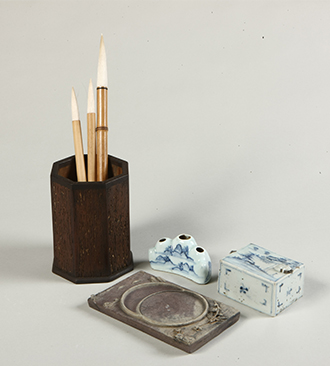 Personal Items of the Men's Quarter (Brush Stand, Brush Rest, Water Dropper, Inkstone)